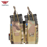 Yakeda Nylon Molle Double Pistol Mag Pouch Other Police Hunting Military AK Mag Holder Tactical