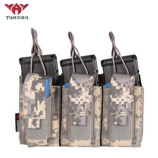 Yakeda nylon Molle triple pistol ammunition bag other police hunting military AK cartridge tactics