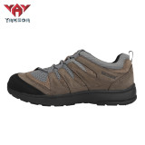 Yakeda Men's Breathable Sneaker Shoes Genuine Leather Wear-resistant Climbing Trekking Outdoor Hiking Boots