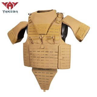 Yakeda Latest Fashion Full Protection Military Tactical Vest Molle Chaleco Tactico Laser Cut Plate Carrier Bullet Proof Vest