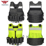 Yakeda custom stab-resistant reflective vest outdoor MOLLE system onboard safety tactical vest