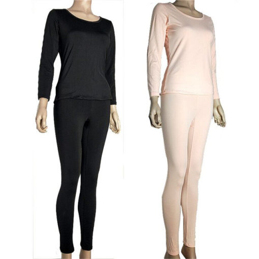 Ladies Thermal Long Sleeves Top Leggings Sets with Asian Sizes
