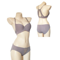 ROSY GOLD Ladies Violet Lace Bra Panty Sets