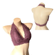 ROSY GOLD Ladies Light Purple Full Lace Bras