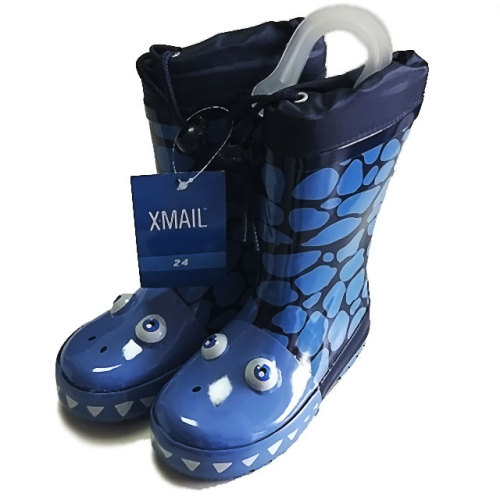 XMAIL Kids Rain Boots (with Drawstring and Fluorescent Paste)