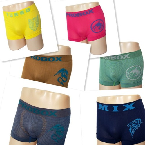 Mens Polyester Seamless Boxer Shorts
