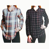 AVENUE Ladies Checked Shirts with Lurex Thread