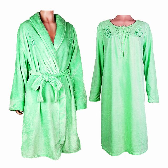 LAURA SCOTT Ladies Bathrobe And Pajama Gown Sets With Hangers