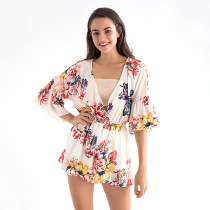 F21 Ladies Chiffon Romper Jumpsuits with Lining Panties