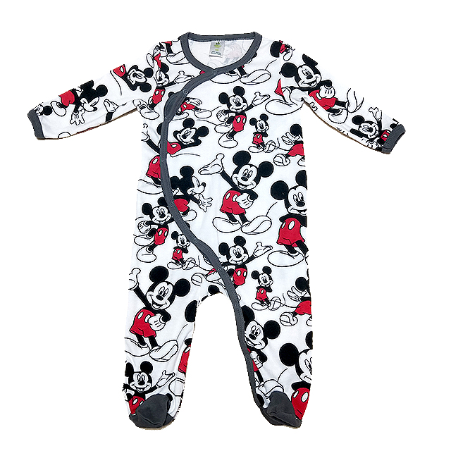 DISNEY Printed Baby Cotton Long Sleeves Rompers