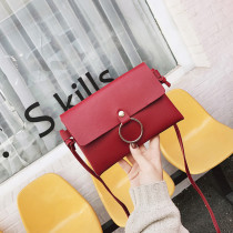 Ladies Fashion Messenger Shoulder Handbags with Gold Rings
