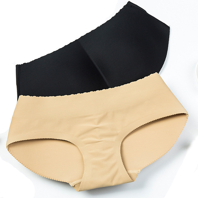 Ladies Poliamide Hip Up Brief Panties Low Waist with Padded Buttock