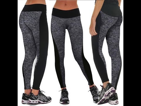 Ladies Polyester Fashion Flexible Yoga Pants Leggings