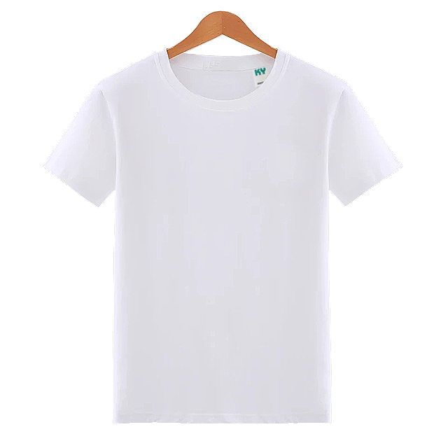Mens Round Crew Neck Cotton Tubular White Tee Shirts