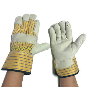 Working Safety Durable Full Palm Leather Gloves