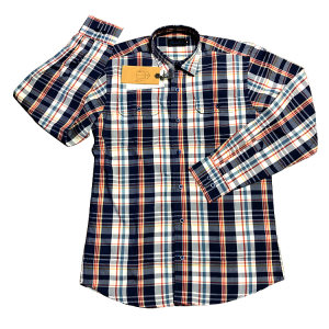 Mens 2 Pockets Yarn Dyed Check Casual Shirts with Multi Colors