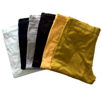 Mens Casual Dress Cotton Twill Pants with Four Pockets