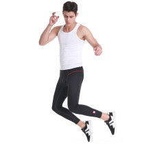 Famous Brand Mens Polyester Black Grey Breathable Jogger Leggings Pants