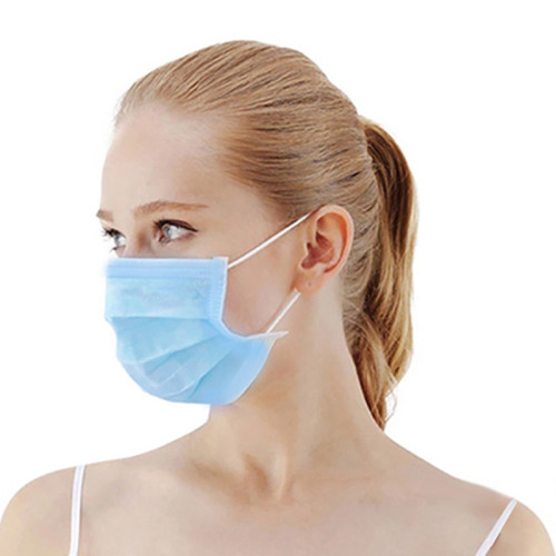Disposal 3Ply Face Masks Civil Use with Earloops for Virus Protection