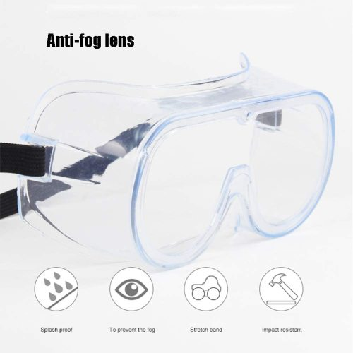 Medical Goggles Protective Safety Goggles -Anti-Fog Virus Goggles Surgical Against Liquid Splash Shield Safety Over Glasses Perfect Eye Protection for Lab, Chemical, With CE