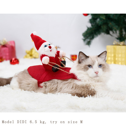 Christmas clothes pet dog cat clothes transfiguration Christmas funny little medium-sized dog golden retriever autumn and winter