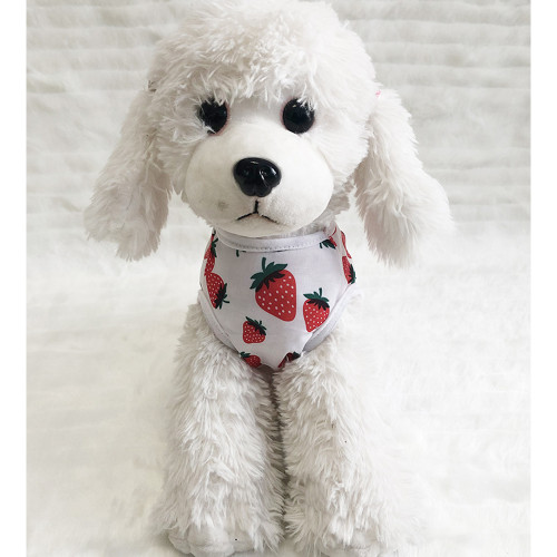 New dog vest Teddy dog clothes pet supplies clothing cat T-shirt strawberry print pet clothes