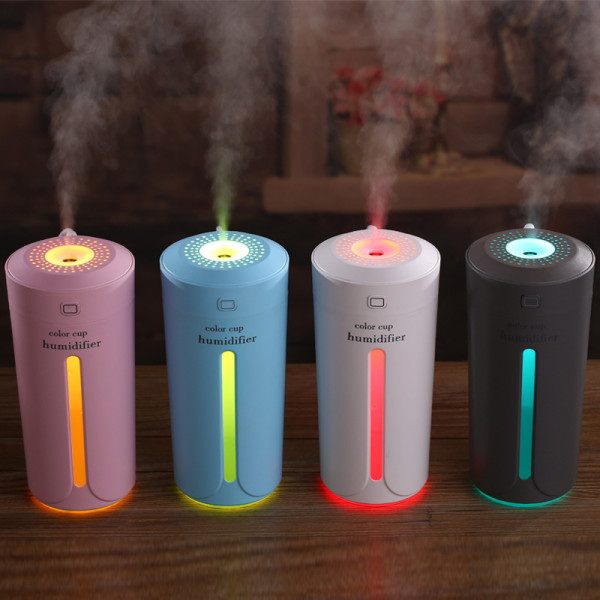Color Cup Humidifier USB Colorful Light Mini Mute Humidifier Timed Power Off