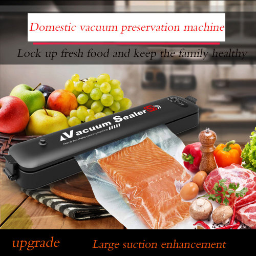 Food vacuum packaging machine household automatic vacuum sealing machine small plastic sealing machine portable kitchen freshness machine