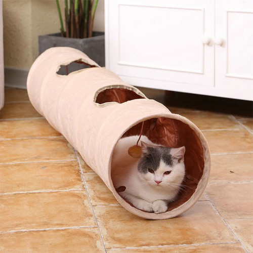 Plush pet tunnel Cat drill hole pet roll totoro toy cat channel Oxford cloth foldable cat tunnel