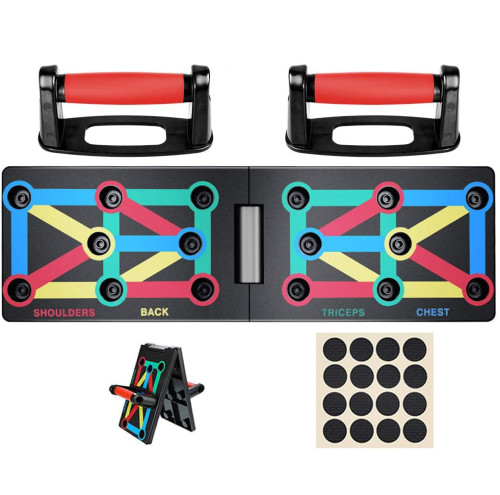 Push Up Board , 12-in-1 Body Building Exercise Tools Workout Push-up Stands, Portable Bracket Board System, for Men Women Home Fitness Training