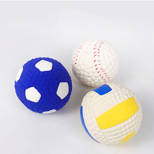 Pet latex toys Dog bite resistant molar ball Interactive bite rugby football