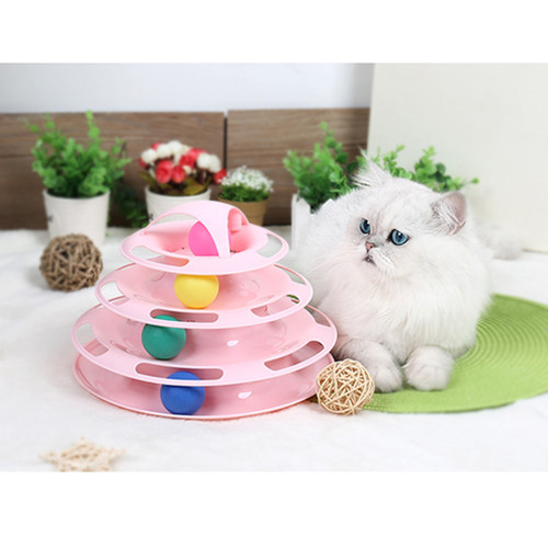 Cat toys pet supplies cat interactive game board toys four-layer cat turntable