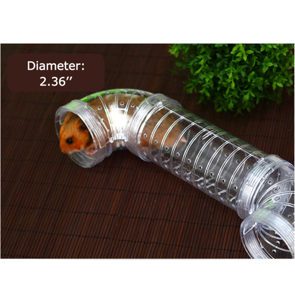 Hamster tunnel external DIY pipe hamster hamster cage U-shaped pipe I-type straight pipe for gold bears