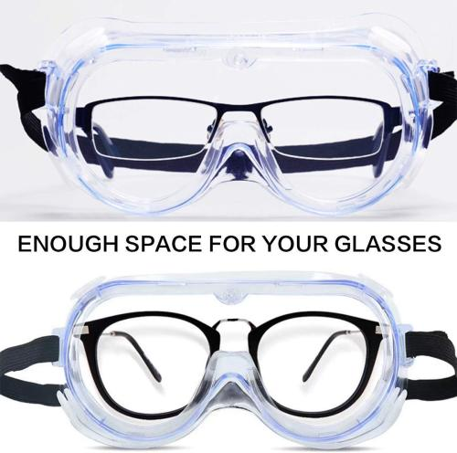 Adjustable Protective Goggle - Full View Glasses - Anti-Splash Anti-Droplets Eye - Anti Fog Goggles - Anti Dust Eye Protection - High Definition Safety Protective Glasses - 2PCS RMJ-05