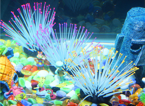Fish tank decoration, landscaping jellyfish, luminous anemone, aquarium landscaping simulation coral sea urchin