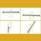 Chest Expander Spring Muscle Puller-Rally Chest Expander Fitness Equipment Home Multi-Function Arm Tension Rope