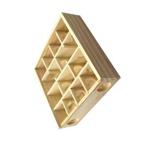 Hamster labyrinth wooden hamster toy supplies log intellectual development toy solid wood