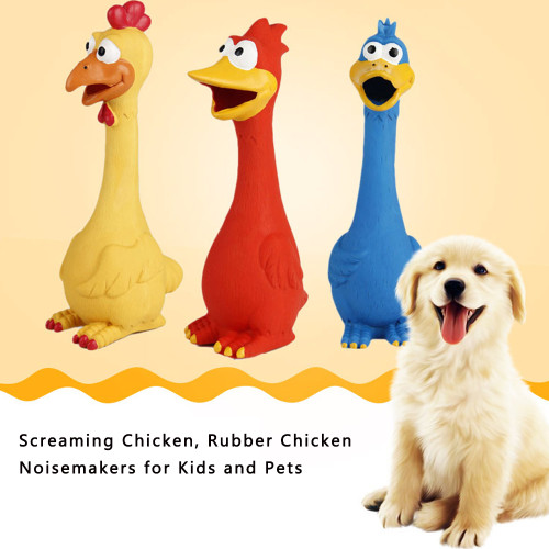 Pet supplies latex screaming chicken cat dog toy screaming chicken vent chicken bite resistant dog toy