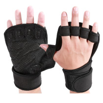 Ventilated Weight Lifting Gloves with Built-In Wrist Wraps, Full Palm Protection & Extra Grip. Great for Pull Ups, Cross Training, Fitness, WODs & Weightlifting.