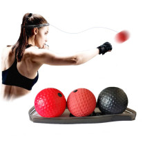 Boxing Reflex Ball, Boxing Ball with Headband, Softer Than Tennis Ball, Suit for Reaction, Agility, Punching Speed, Fight Skill and Hand Eye Coordination Training -3pcs