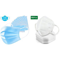 100 disposable masks and 100 KN95 masks, anti-dust, anti-virus and anti-smog