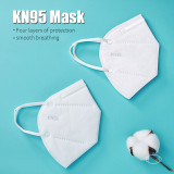 5 KN95 masks with breathing valve and 5 KN95 masks, dustproof, anti-virus and anti-smoke