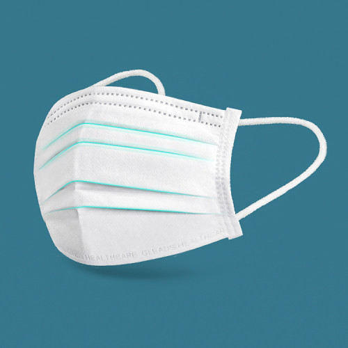 50 disposable masks, three layers of dust-proof breathable earring masks, comfortable non-woven cloth filter masks, suitable for home and office use
