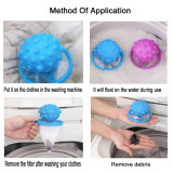 3 Packs Washing machine float filter bag, hair filter, cleaning and decontamination laundry ball(blue)