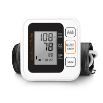 Portable Digital Upper Arm Blood Pressure Monitor Heartbeat test Health care monitor 2 Cuff Tonometer