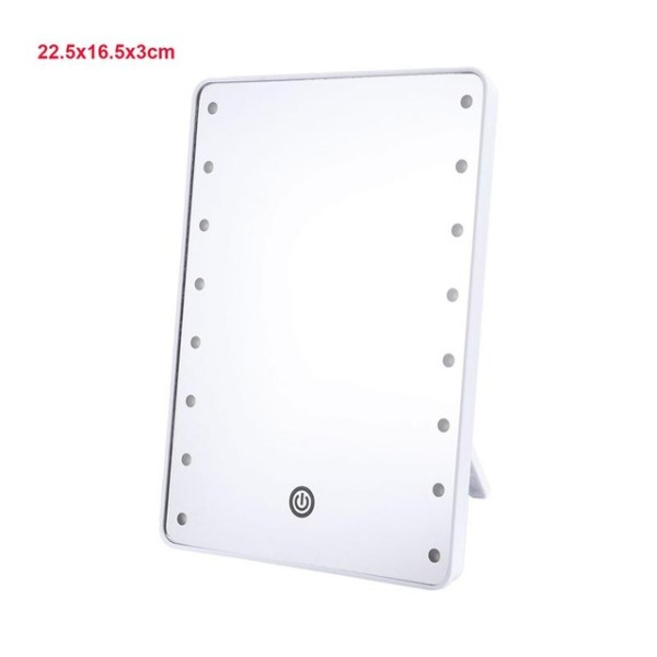 Makeup Mirror With 16 LEDs Cosmetic Mirror With Touch Dimmer Switch Battery Operated Vanity Mirror With Stand For Tabletop