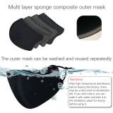 Reusable mask, with 4 filter chips, the same level of protection as KN95 mask
