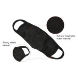 5 Pack Washable and Reusable Summer Thin Cotton Mask, Fashion Unisex Black Fabric Dust Covering