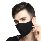 Safety Dust Mask with 20 PM 2.5 Filters, Easy Breathe Reusable Washable Face Mask, Thin fabric for Summer Use (Black)