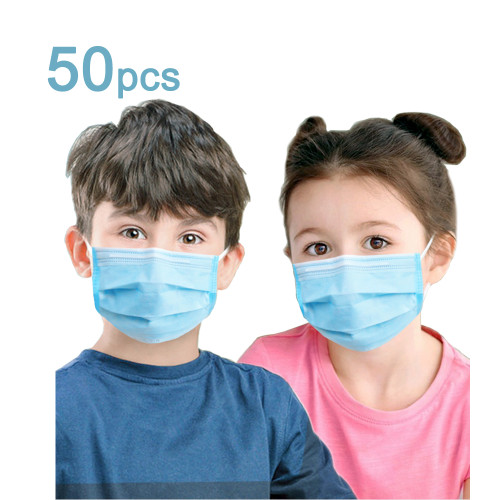 50 Pcs Children's Disposable Masks, Children's Special Genuine Guarantee, Independent Packaging 1 pcs/bag of Protective Masks